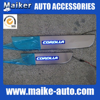 Wholesale COROLLA LED Door sill plate scuff plate footplate stainless steel SUV cars Auto Accessories Auto Parts