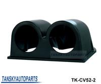 Wholesale Black quot mm UNIVERSAL DUAL HOLE DASH GAUGE METER POD MOUNT HOLDER ABS Quick Shipping TK CV52