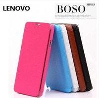 For Chinese Brand Leather White New Fashion Original -thin Brief Brand BOSO Flip Leather Protective Cover Case for Lenovo A656 A516 P780 K900 S920A706 A850