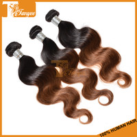 Wholesale Ombre Brazilian Virgin Hair Body Wave Or Ombre Hair Extensions Remy Human Hair Weft Cheap Human Hair Weave Two Tone b