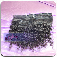 Wholesale Clip in Curly Hair Extension g set inch in Stock Raw Unprocessed Human Hair Made Dye able