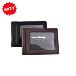 Wholesale Men amp Women Fahion ID holder genuine cow leather bank credit cards wallet bag gifts promotion offer JG3039A