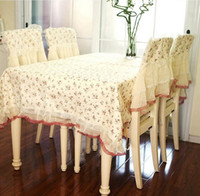 Wholesale light yellow lace table cloth dining table cloth chair cover