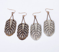 Wholesale new design fashion vintage rhinestone drop earrings for women length cm