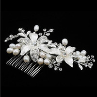 Wholesale Hot Sale Wedding Bridal Beautiful Hair Comb With Crystal Pearl Jewelry For Wedding Bridal Tiaras Brides Hair Accessories Custom MADE