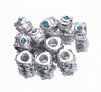 Wholesale 50pcs Big Hole Alloy Loose Beads Fashion Jewelry For Necklace Bracelets DIY PDB920