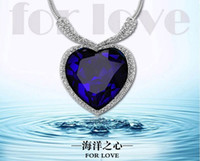 Wholesale 2014 Special Offer Jewelry The Titanic Classic Crystal Necklace Heart Of The Ocean Vintage Jewelry
