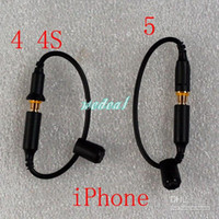 Earphone Adapter   30pcs Waterproof Cover Case Headphone Adapter Plug Replacement Cable 3.5mm Female to Male Cables with Seal Cap for iPhone 5 4 4S Earphone