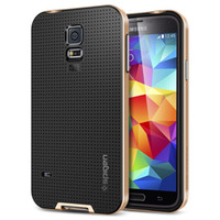 Wholesale 1PCS For Samsung Galaxy S5 I9600 Case Newest Product Bumblebee Air Holes Back Cover SPIGEN SGP Case