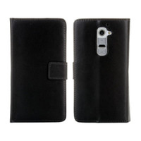 For LG bags samples - Hot Sales Genuine Leather Wallet Cover for LG G2 D802 Phone Bag Cover Black Stand Slot Case