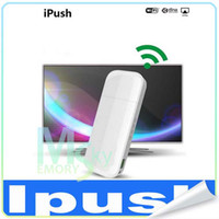 Wholesale New Arrival IPUSH D2 Multi Media Wi Fi DLNA Display Receiver for Android iOS