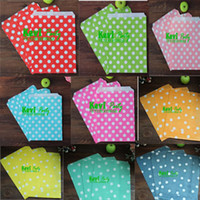 bags party pack - Colorful Dot Paper Packing Bags Reusable shopping bag Bitty Party Food Holder Favor Pouches
