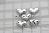 Wholesale 100pcs mum floating charms for glass living locket Xmas gift