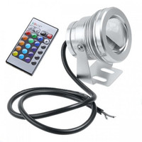 Wholesale 6X W RGB Floodlight Underwater LED Flood Lights Swimming Pool Outdoor Waterproof Round DC V Convex Lens