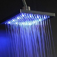 Square Shower Head   Led Shower Head 8 Inch Top spray shower Square Shower Head RGB Temperature Control Shower