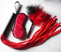 Wholesale Frist time bondage kit with a flogger blindfold and a feather tickler bdsm gear fetish gear sex toy adult novelty