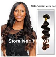 Acheter 12 pouces cheveux humains deux tons-Oxette Bracelet Cheveux Vierges Brésilien Deux Tone Couleur # 1b / # 33 Ombre Extensions de cheveux Humains 5e année 12-30 pouces 3 ou 4 lot de lots