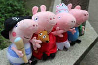Wholesale 2014 new arrival Unisex Kids Peppa pig plush toys cm cm Pirate Ballet Pink Peppa Pig Stuffed Animals stuff doll Cartoon Plush Baby Gift