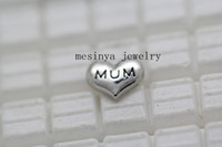 Wholesale 100pcs mum floating charms glass locket not include0