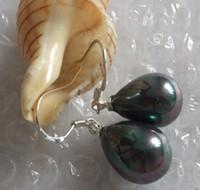 Dangle & Chandelier akoya pearl drop earrings - AAA mm White Akoya Drop shell Pearl Earring AAA925 ree shipping