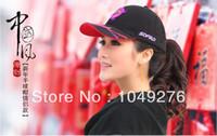 Wholesale 2014 fashion baseball caps men snapback hats Dragon embroidery patterns cotton black color fee size Fee shipping