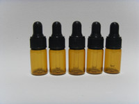 Glass lot of perfume - of ml Amber Small Glass Dropper Bottles Vials for Essential Oil Perfume sampling With black cap top