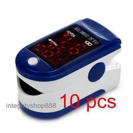 Wholesale 10 units Blue color LED Fingertip Pulse Oximeter Spo2 Monitor