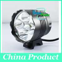 Wholesale 2014 T6 T6 Lumens x Cree XM L In LED Modes Bike Light Bicycle Front Lamp Headlight Headlamp mAh Battery Pack