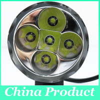 Wholesale 5 x Cree XM L T6 T6 Lumens In LED Modes Bike Light Bicycle Front Lamp Headlight Headlamp mAh Battery Pack