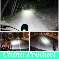 Wholesale 2 In Bicycle Front Lamp LED T6 T6 Lumens x Cree XM L Modes Bike LightHeadlight Headlamp mAh Battery Pack