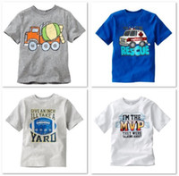 Wholesale Rescue Children s T shirts Fashion Boy Clothes Summer Tshirs for girls Tops Sample