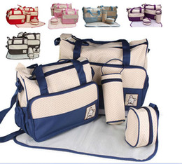 Mother infanticipate mummy Babies bags fashion Diaper nappy bag multifunctional double-shoulder cross-body