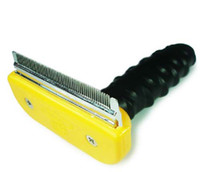 Wholesale brand new Dog cleaning Grooming hair Shedding Tool dog pet comb brush pet supplies