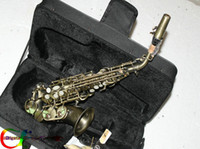 Wholesale NEW Bronze Soprano saxophone Bronze Saxophone with case In stock Chinese