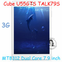 Under $200 Cube 7.9inch 7.9 inch Cube U55GTS TALK79S MT8312 Dual Core Tablet PC with WCDMA Built in 3G GSM Phone Call GPS Camera 8.0MP From Imgirl