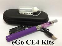 Wholesale Ego eGo T CE4 Electronic Cigarette Starter kits E Cigarette Ecigs mah mah mah Zipper case single vaporizer Clearomizer Battery KIT