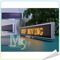 Wholesale led desktop screen led message sign led mini moving screen world language support USB led moving screen