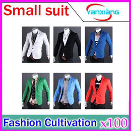 Wholesale DHL Classic new men fashion personality pure color cultivate one s morality leisure suit YX FZ