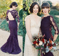 Cheap Grape Champagne Purple Bridesmaid Dresses 2014 Brides ...