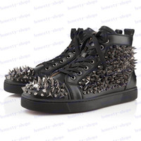 Loafers amazing sneakers - Brand New Amazing Design Sneakers New Stylish Brand Men s High Top Shoes Lace Up Genuine Leather Spike Studded Rivets