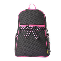 Wholesale 8848 Quilted Cotton Fabric Girls School bag Backpack Laptop bags with Bow for Ages from to BP1016 BP1017