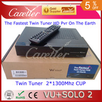 Receivers DVB-S  Vu plus solo 2 twin tuner hd oringal image vu solo 2 receiver hot sell and free shipping