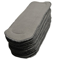 Baby Diapers bamboo charcoal - Retail Bamboo Charcoal Insert For Baby Cloth Diaper layers Of Hemp Inserts L572