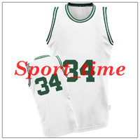 Wholesale Celtics Paul Pierce embroidered White Home jersey revolution Swingman basketball uniforms brand outdoor athletic apparel cheap jersey