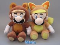 Wholesale EMS New Kitsune Tanooki Plush Doll Toy cm Super Mario Bros Fox Luigi