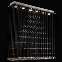 Wholesale Modern brief led restaurant lights crystal lighting bar partition crystal lamps curtain