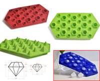 Wholesale Diamond Ice Cube Honeycomb Ice Tray Silicone Molds For Soap Chocolate Fondant Moulds Ice Cream Tools