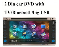 Wholesale universal two Din quot inch Car DVD player car video audio Radio stereo USB SD Bluetooth TV AUX big USB slot digital HD touch screen