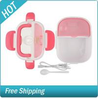 Cheap 3 pcs lot Free Shipping Portable Electric Heating Multi-function Lunch Box 1.05L 3pcs