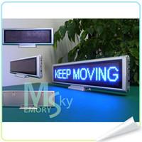 Wholesale led Scrolling Message Meeting screen clock displa LED Digital desktop display All language